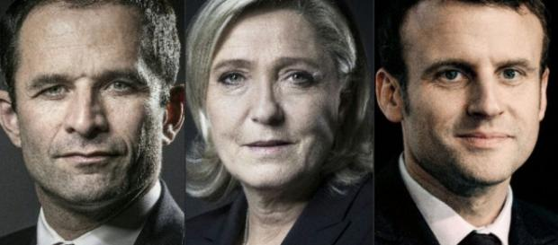 Présidentielles 2017 - Macron, Hamon , Le Pen