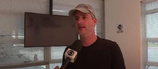 Victor negou a agressão, mas disse que não falará sobre o assunto (Foto: Reprodução/TV Globo)