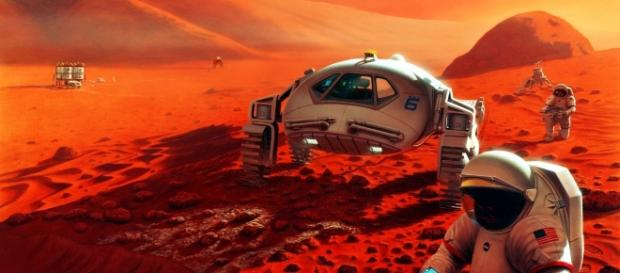 Will we soon become an inter-planetary species? / Photo via https://upload.wikimedia.org/wikipedia/commons/7/7d/Humans_on_Mars.jpg