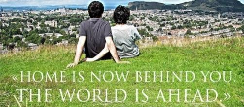 Home is now behind, the world is ahed