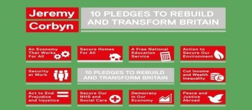 Jeremy Corbyn's 10 pledges to transform Britain.