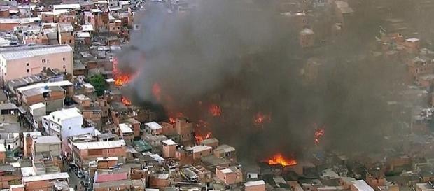 Incêndio na favela de Paraisópolis, zona sul de São Paulo 2017