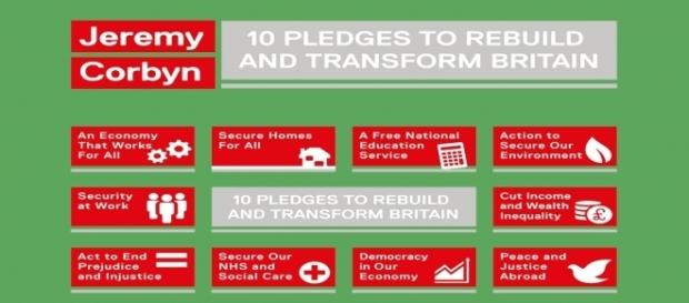 Jeremy Corbyn's 10 pledges to transform Britain.