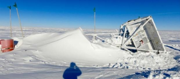 The telescope balloon sat on the ice for an entire year (Image source - The Indian Express)