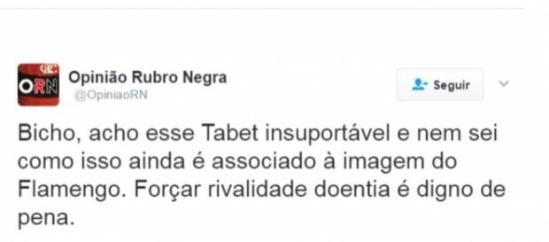 Torcedores do Flamengo não aprovaram postagem do dirigente