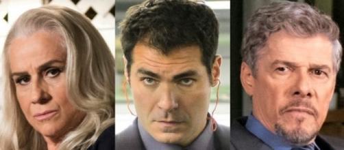 Magnólia, Ciro e Tião em 'A Lei do Amor' (Divulgação/Globo)