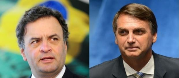 Aécio Neves (PSDB-MG) e Jair Bolsonaro (PSC-RJ)