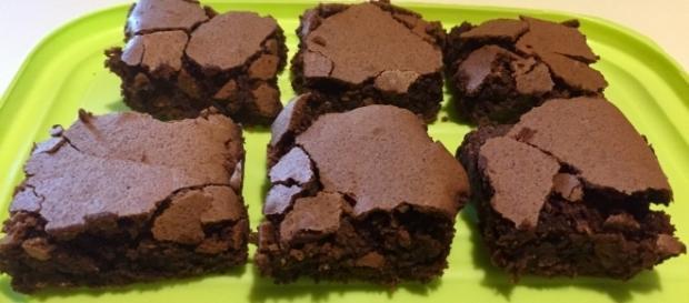 Alcuni dei brownies ottenuti con questa ricetta