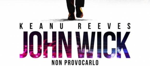 Locandina del film John Wick con Keanu Reeves.