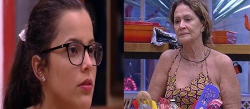 Emilly tenta intimar Ieda (Foto: reprodução TV Globo)