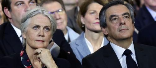 Francois et Penelope Fillon rally
