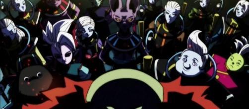 Imagen de los dioses de la destrucción junto a sus asistentes