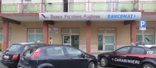 Rapina di !.500 euro alla Banca Popolare Pugliese di Scanzano Jonico