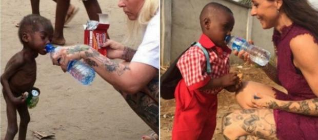 Bebê está forte e saudável após ser abandonado por maldição (Reprodução: Facebook)