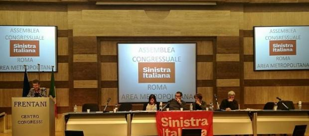 Un momento del congresso romano di Sinistra Italiana