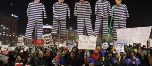 Una immagine delle manifestazioni di protesta