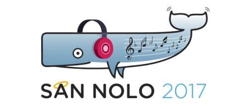 La balena simbolo di NoLo in chiave musicale per 'SanNolo - Festival semiserio della canzone'.
