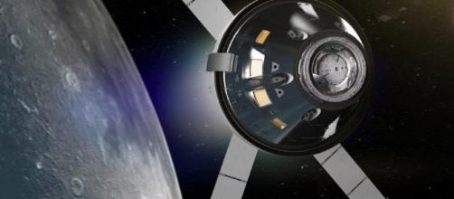 Orion in lunar orbit (courtesy NASA)