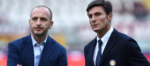 Piero Ausilio e Javier Zanetti.