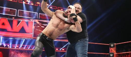 Samoa Joe attacks Seth Rollins on Monday Night Raw - WWE Raw