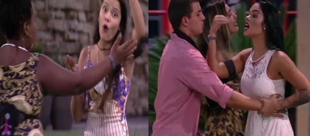 Briga entre Emily e Mayara no BBB