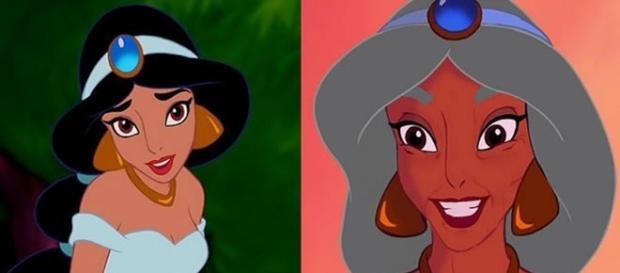 Em sua versão mais velha, Jasmine não abandonou os acessórios
