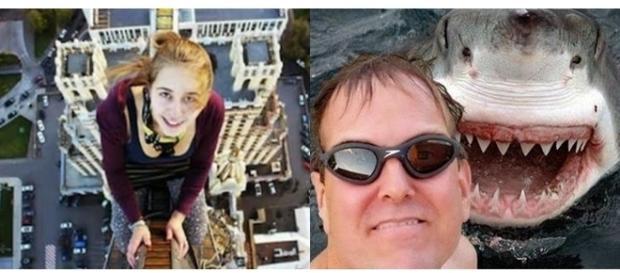 Essas imagens mostram como as pessoas devem tomar cuidado ao tirar selfie