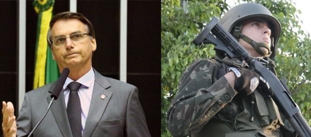 Jair Bolsonaro é ex militar, capitão do exercito brasileiro.
