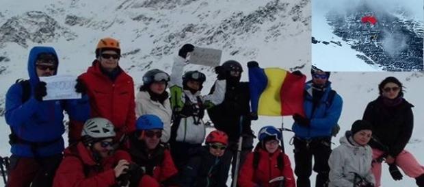 Teodor Tulpan și prietenii săi. Preluare foto de pe profilul alpinistului