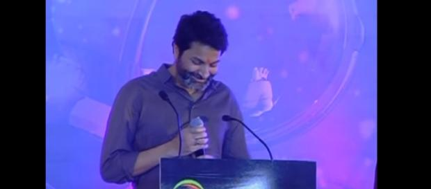 Trivikram at Amara raja Batteries Foundation day (Image credits: Screencap from Youtube.com/Prasad M)