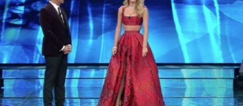 Diletta Leotta ospite alla prima puntata del Festival di Sanremo