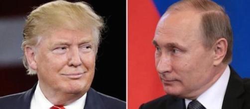 Trump and Putin. http://katehon.com/news/putin-and-trump-hold-talks photo via Katehon.com