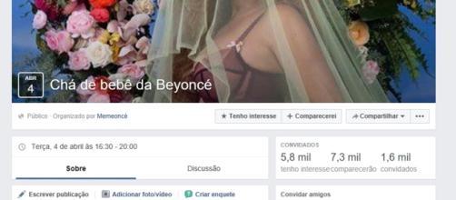 """Internautas criam """"Chá de Bebê da Beyoncé'"""""""