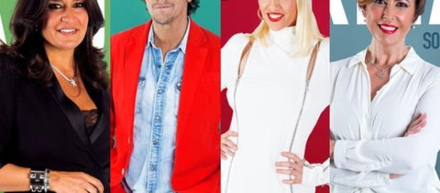 Aída, Alejandro, Daniela e Irma Soriano, nominados esta semana.