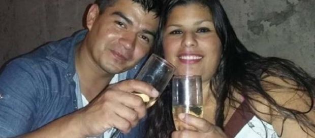 Diego Loscalzo y su pareja, semanas antes del crimen