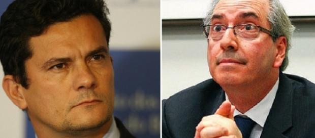 Eduardo Cunha lê carta para Moro
