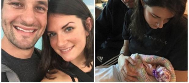 Lindsey Paradiso, com o marido Matt, após fazer o aborto