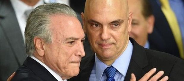Moraes é escolha pessoal de Temer