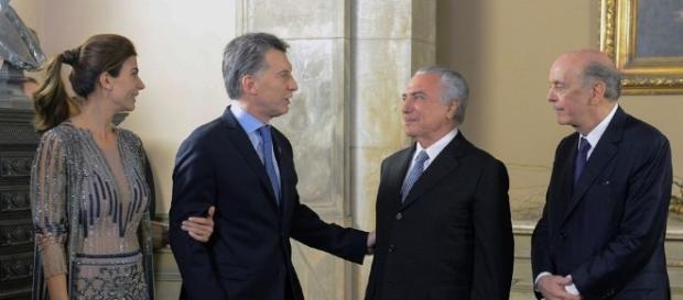 Presidente argentino Maurício Macri visita o Brasil