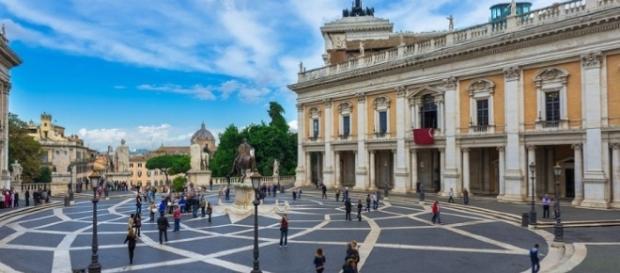 Vista del Campidoglio Sede del Comune di Roma