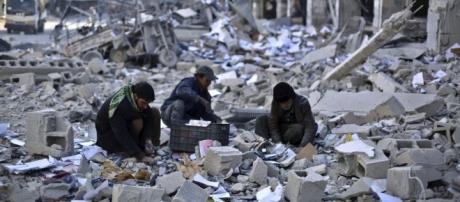 Cenário de destruição da Síria