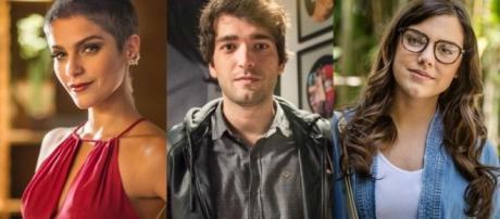 Letícia, Tiago e Isabela em 'A Lei do Amor' (Divulgação/Globo)