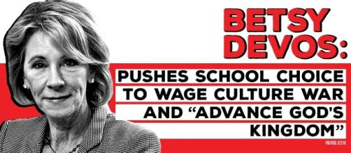 """American Bridge on Twitter: """"Betsy DeVos wants to use our nation's ... - twitter.com"""