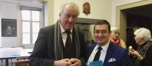 Ivan Arjona, con el Prof. Chris Vonck, Director de la Facultad del Estudio Comparado de la Religión y el Humanismo