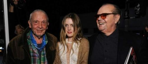 Jack Nicholson con su hija Lorraine, que le cuida en su vejez.