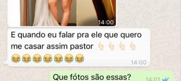 Garota dá em cima de pastor e se dá muito mal (foto: reprodução Facebook)