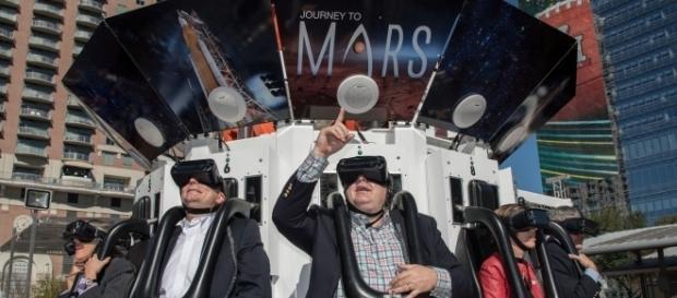 Super Bowl visitors in Houston enjoyed VR exhibits last week. (Photo via Flickr-NASA Johnson)