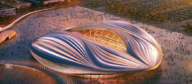 Um dos vários estádios a serem finalizados para a Copa do Mundo de 2022