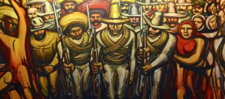 """Del porfirismo a la revolución"", mural de David Alfaro Siqueiros (1957)"