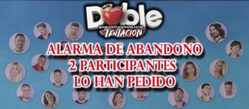 Los participantes que han pedido abandono en Doble Tentación